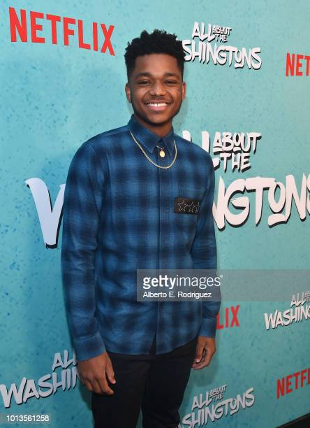 Nathan Anderson attends a screening of Netflix's 'All About The Washingtons' at Madera Kitchen Bar on August 8 2018 in Hollywood California
