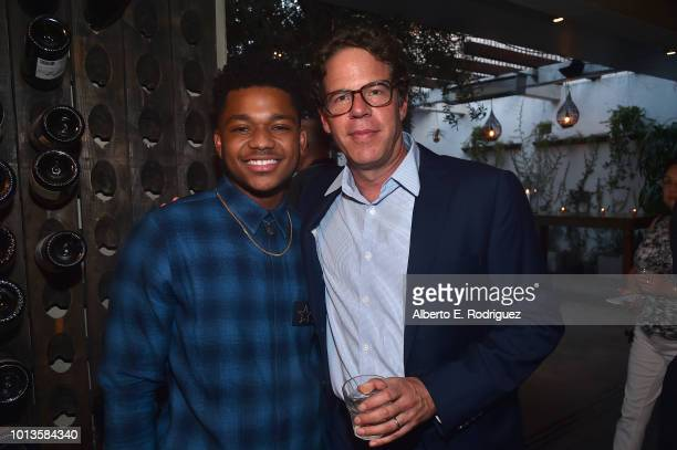 Nathan Andreson and Andrew Reich attend the after party for a screening of Netflix's 'All About The Washingtons' on August 8 2018 in Hollywood...