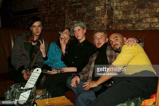 Nathan Antolik Amber Halford Lauren Boyle Michael Gallagher and David Marrero attend MAO MAG Fashion Week Launch Party at Sol on February 2 2006 in...