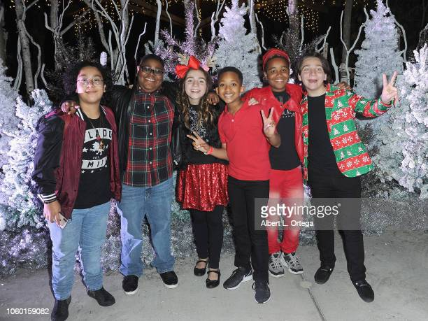 Nathan Arenas Arinyele Caldwell Brooklyn Robinson Brandin Stennis Jailen Bates and Bryson Robinson attends the LA Zoo Lights Special Preview/VIP...