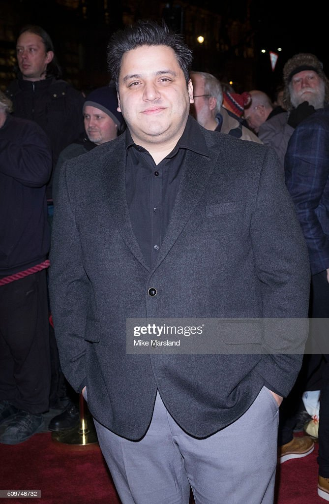 Nathan Azmi attends the World Premiere of 'End Of Longing', written by and starring Matthew Perry at Playhouse Theatre on February 11, 2016 in London, England.