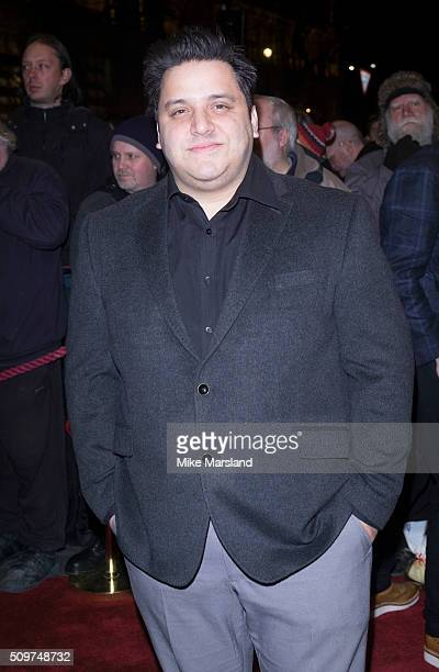Nathan Azmi attends the World Premiere of 'End Of Longing' written by and starring Matthew Perry at Playhouse Theatre on February 11 2016 in London...