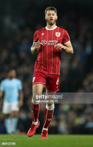 Nathan Baker of Bristol City during the Carabao Cup SemiFinal First Leg between Manchester City and Brostol City at Etihad Stadium on January 9 2018...