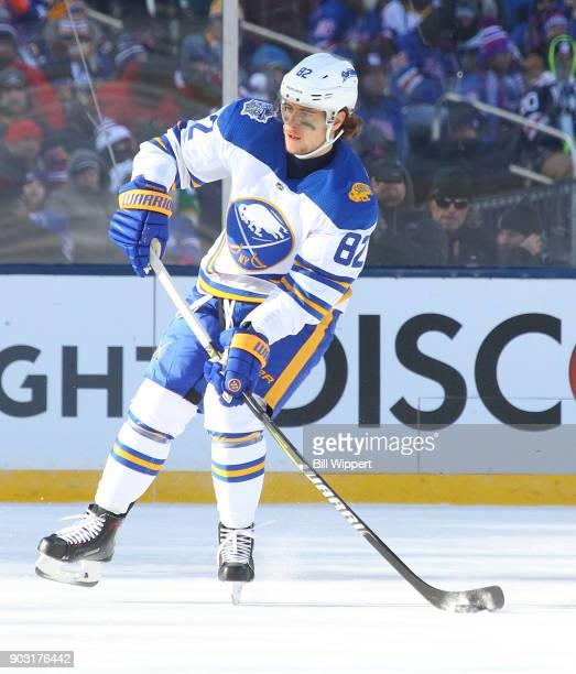 Nathan Beaulieu of the Buffalo Sabres skates against the New York Rangers during the 2018 Bridgestone NHL Winter Classic at Citi Field on January 1...
