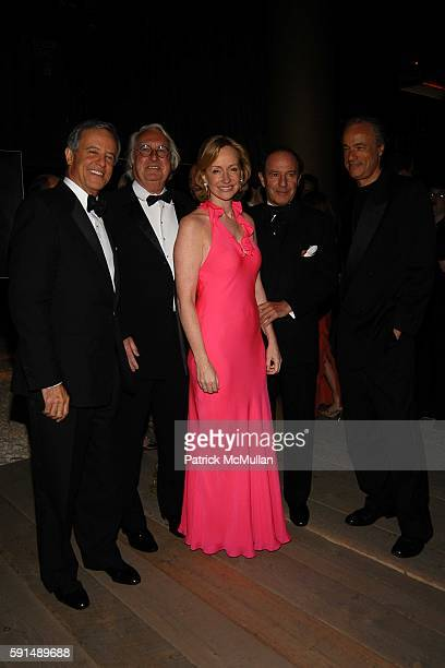 Nathan Bernstein, Richard Meier, Louise T. Blouin MacBain, Charles Fabius and Mort Zuckerman attend Inaugural Dinner and Awards Presenation of the...
