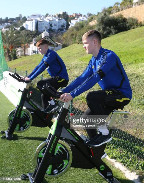 Nathan Bishop of Manchester United in action during a first team training session on February 10 2020 in Malaga Spain