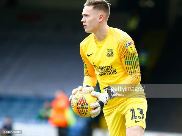 Nathan Bishop of Southend United during Sky Bet League One match between Southend United and Luton Town at Roots Hall Ground Southend England on 26...