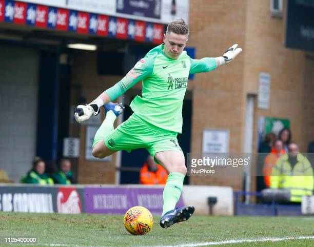 Nathan Bishop of Southend United during Sky Bet League One match between Southend United and Portsmouth at Roots Hall Ground Southend England on 16...