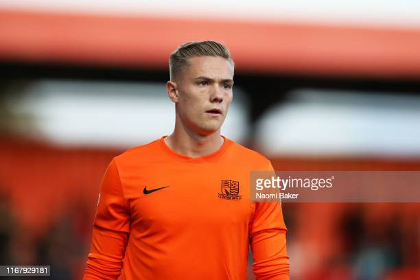 Nathan Bishop of Southend United looks on during the Carabao Cup First Round match between Stevenage and Southend United at The Lamex Stadium on...