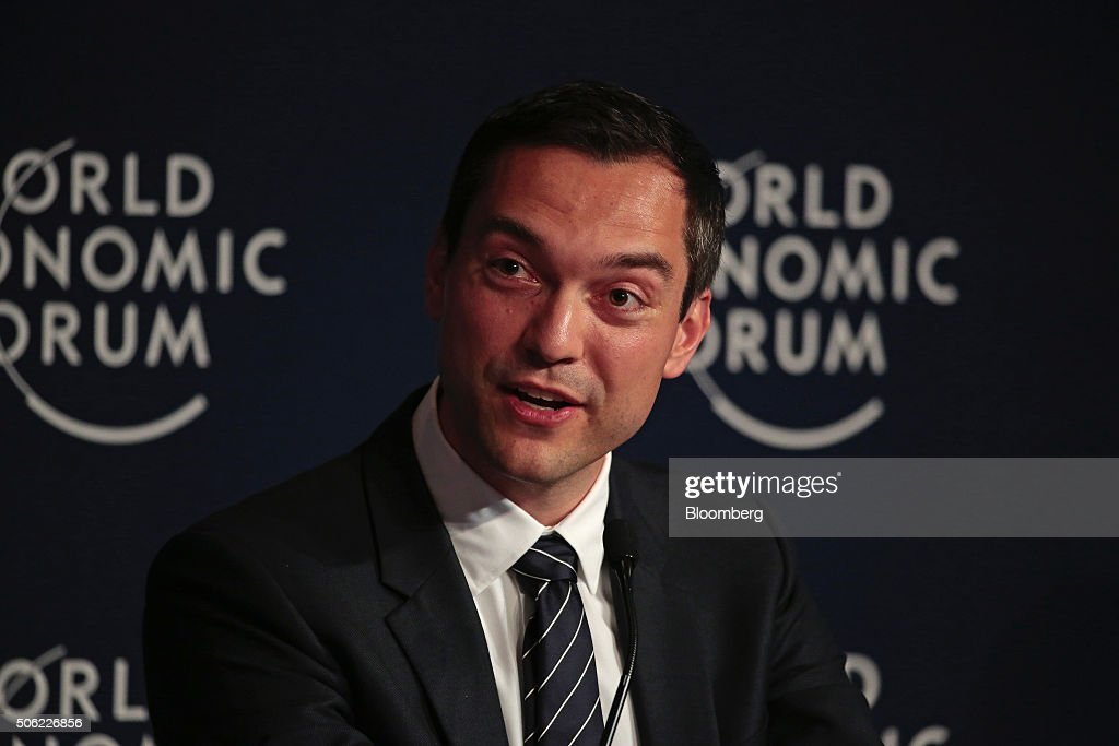 Nathan Blecharczyk, co-founder and chief technology officer of Airbnb Inc., speaks during a panel session at the World Economic Forum (WEF) in Davos, Switzerland, on Thursday, Jan. 21, 2016. World leaders, influential executives, bankers and policy makers attend the 46th annual meeting of the World Economic Forum in Davos from Jan. 20 - 23. Photographer: Jason Alden/Bloomberg via Getty Images