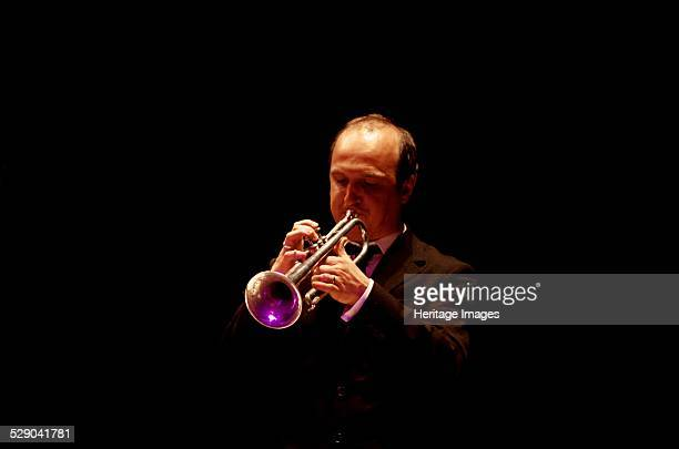 Nathan Bray lead trumpeter and jazz soloist The Hawth Theatre Crawley West Sussex Image by Brian O'Connor