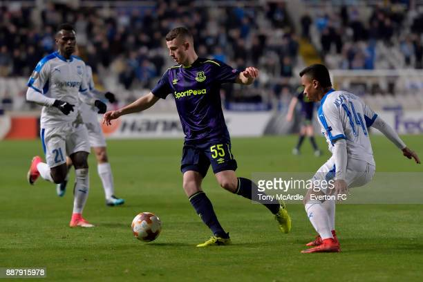 Nathan Broadhead of Everton during the UEFA Europa League Group E match between Apollon Limassol and Everton at GSP Stadium on December 7 2017 in...