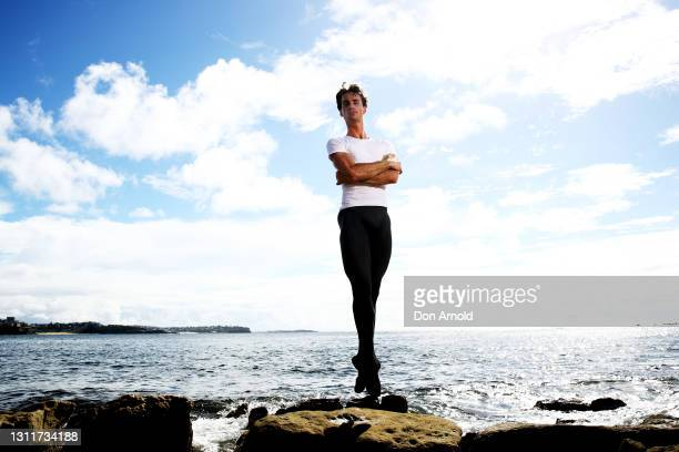 Nathan Brook poses for a portrait on April 07, 2021 in Sydney, Australia. Nathan Brook, a soloist with the Australian Ballet, has been named the...