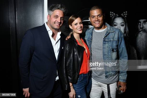 """Nathan Brown, Britney Busacca and Jamal Blake Williams attend Tribeca Film Festival World Premiere Party for the Virtual Reality Experience """"The Day..."""