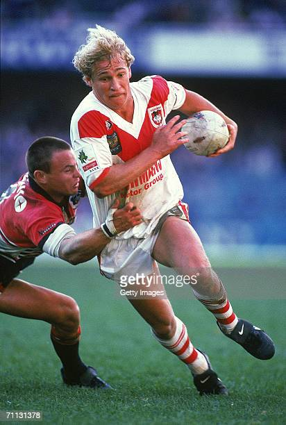 Nathan Brown of the Dragons in action during a ARL Preliminary final match between the North Sydney Bears and the St George Dragons held at the...