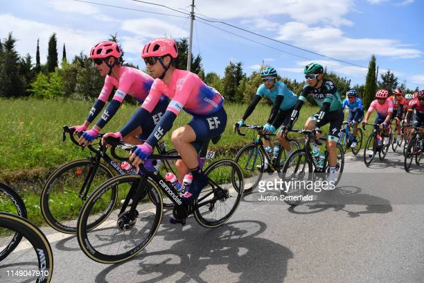 Nathan Brown of The United States and Team EF Education First / Sean Bennett of The United States and Team EF Education First / Davide Villella of...