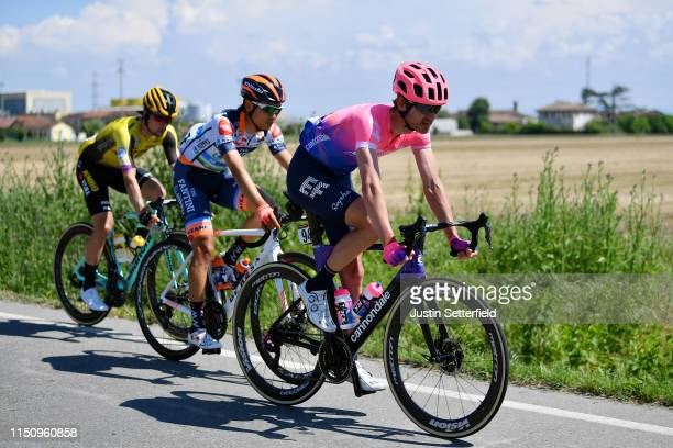Nathan Brown of The United States and Team EF Education First / Sho Hatsuyama of Japan and Team Nippo Vini Fantini - Faizane / Primoz Roglic of...