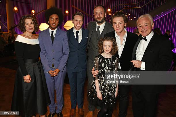 Nathan Bryon Danny Walters Steve Edge Honor Kneafsey Josh Bolt and Michael Fenton Stevens attend the National Television Awards on January 25 2017 in...
