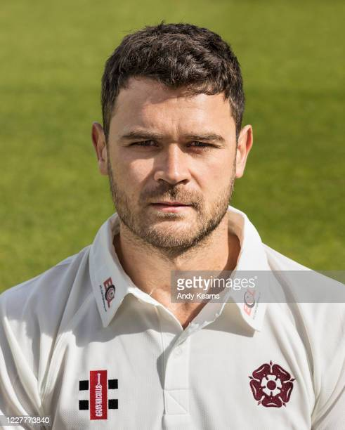 Nathan Buck of Northamptonshire during the Northamptonshire County Cricket Club Photo Shoot at The County Ground on July 10 2020 in Northampton...
