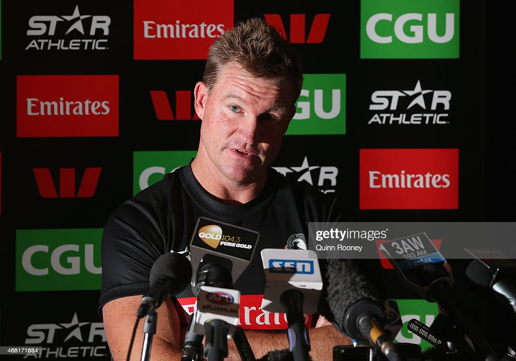 Collingwood Magpies Press Conference : News Photo