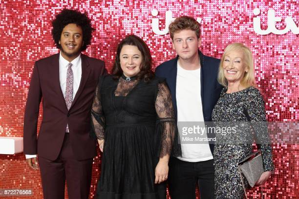 Nathan Byron Shelley Longworth Josh Bolt and Kate Fitzgerald arrive at the ITV Gala held at the London Palladium on November 9 2017 in London England