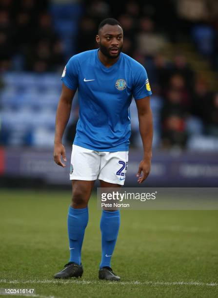 Nathan Cameron of Macclesfield Town in action during the Sky Bet League Two match between Macclesfield Town and Northampton Town at Moss Rose Ground...