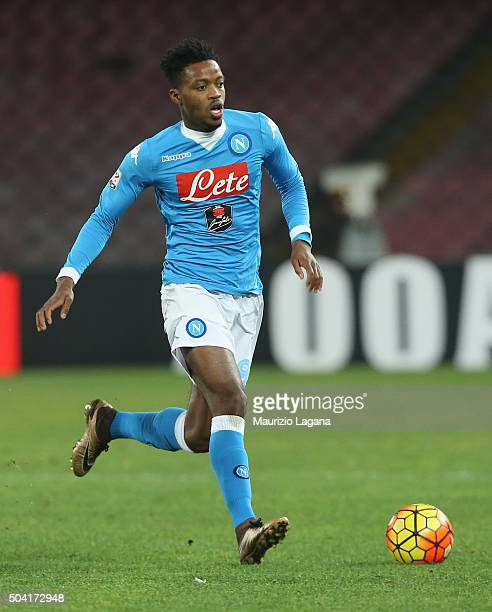 Nathan Chalobah of Napoli during the Serie A match between SSC Napoli and Torino FC at Stadio San Paolo on January 6 2016 in Naples Italy