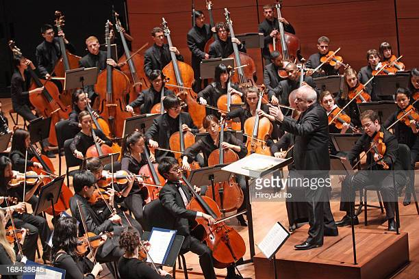 """Nathan Chan performing Richard Strauss's """"Don Quixote"""" with the Juilliard Orchestra led by Leonard Slatkin at Alice Tully Hall on Saturday night, May..."""