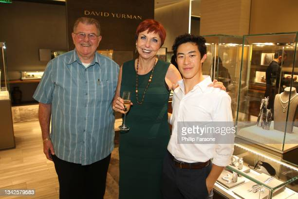 Nathan Chen attends the in-store shopping event benefiting Gold House hosted by Nathan Chen at David Yurman on September 25, 2021 in Costa Mesa,...