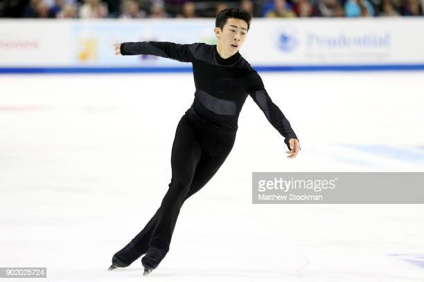 Nathan Chen competes in the Men's Free Skate during the 2018 Prudential US Figure Skating Championships at the SAP Center on January 6 2018 in San...