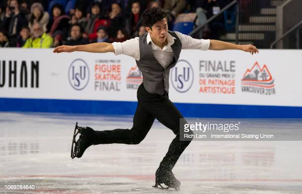 Nathan Chen competes in the Short Program of the Men's competition at the ISU Junior and Senior Grand Prix of Figure Skating Final December 2018 in...
