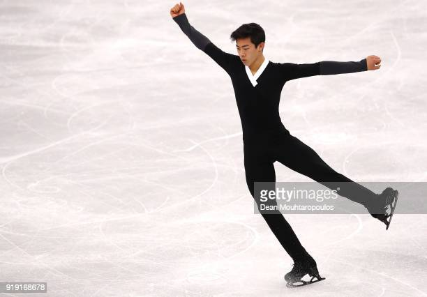Nathan Chen of the United States competes during the Men's Single Free Program on day eight of the PyeongChang 2018 Winter Olympic Games at Gangneung...