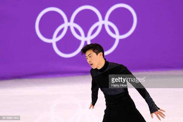 Nathan Chen of the United States competes in the Figure Skating Team Event Men's Single Skating Short Program during the PyeongChang 2018 Winter...