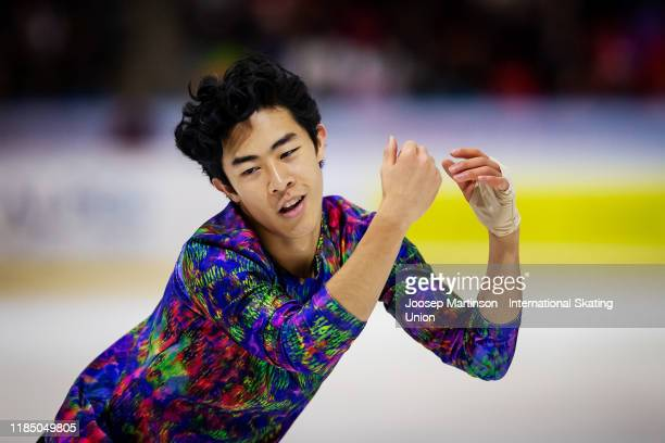 Nathan Chen of the United States competes in the Men's Free Skating during day 2 of the ISU Grand Prix of Figure Skating Internationaux de France at...