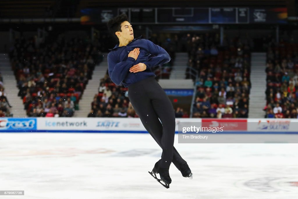 Nathan Chen of the United States competes in the Men's Free Skating during day two of 2017 Bridgestone Skate America at Herb Brooks Arena on November 25, 2017 in Lake Placid, New York.