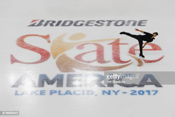 Nathan Chen of the United States competes in the Men's Short Program during day one of 2017 Bridgestone Skate America at Herb Brooks Arena on...