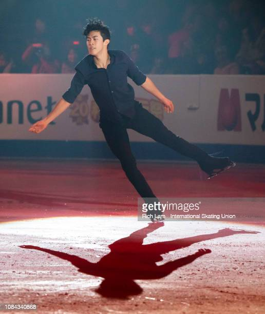 Nathan Chen of The United States performs at the Gala Performance at the ISU Junior Senior Grand Prix of Figure Skating Final on December 9 2018 in...