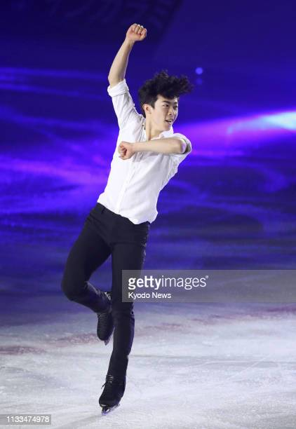 Nathan Chen of the United States performs during an ice show in Osaka on March 29 2019 ==Kyodo