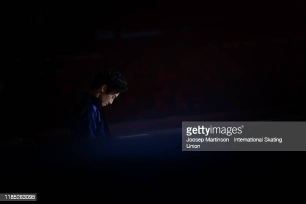 Nathan Chen of the United States performs in the gala exhibition during day 3 of the ISU Grand Prix of Figure Skating Internationaux de France at...