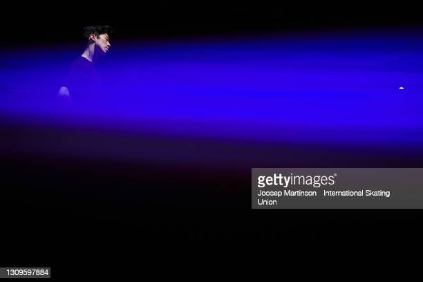 Nathan Chen of the United States performs in the Gala Exhibition during day five of the ISU World Figure Skating Championships at Ericsson Globe on...