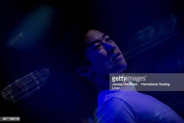 Nathan Chen of the United States performs in the Gala Exhibition during day five of the World Figure Skating Championships at Mediolanum Forum on...