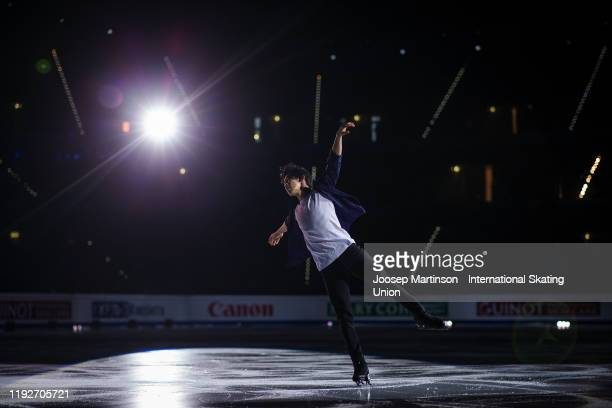 Nathan Chen of the United States performs in the Gala Exhibition during the ISU Grand Prix of Figure Skating Final at Palavela Arena on December 08...