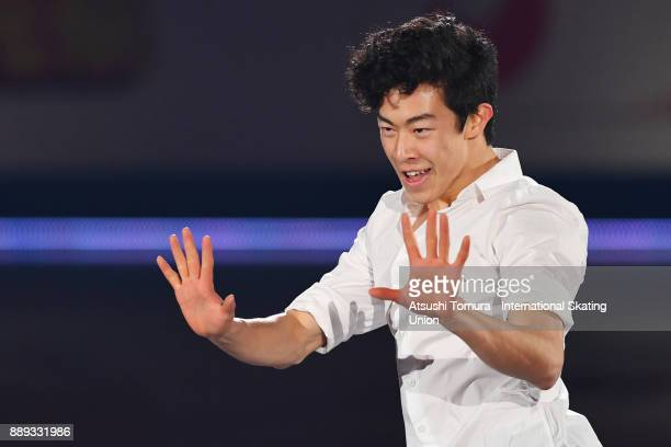 Nathan Chen of the USA performs his routine in the Gala exhibition during the ISU Junior Senior Grand Prix of Figure Skating Final at Nippon Gaishi...
