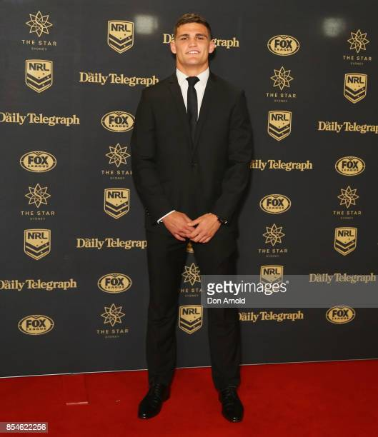 Nathan Cleary arrives ahead of the Dally M Awards at The Star on September 27 2017 in Sydney Australia