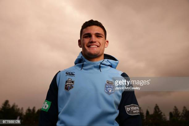 Nathan Cleary of the Blues during a New South Wales Blues State of Origin recovery session at Coogee Oval on June 18 2018 in Sydney Australia