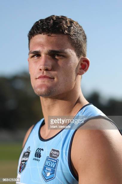 Nathan Cleary poses following a New South Wales State of Origin training session at Coogee Oval on May 29 2018 in Sydney Australia