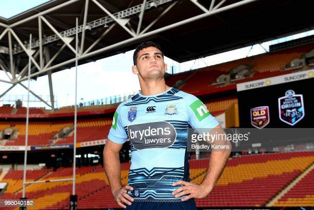Nathan Cleary poses for a photo during the New South Wales Blues State of Origin Captain's Run at Suncorp Stadium on July 10 2018 in Brisbane...