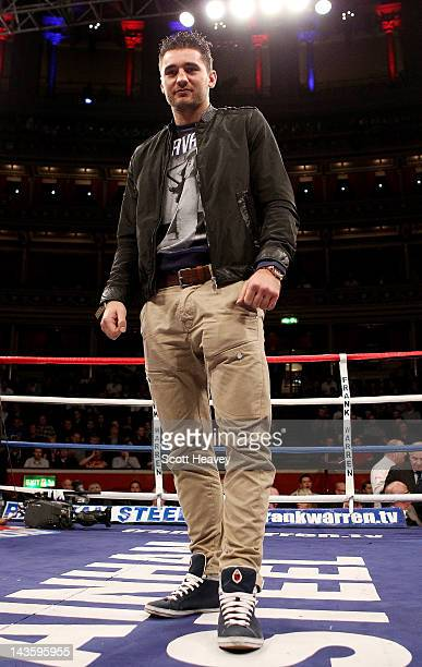 Nathan Cleverly at Royal Albert Hall on April 28, 2012 in London, England.