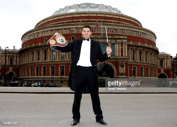 Nathan Cleverly attends a press conference to promote his upcoming Light Heaveyweight bout with Robin Krasniqi at The Royal Albert Hall on March 20,...