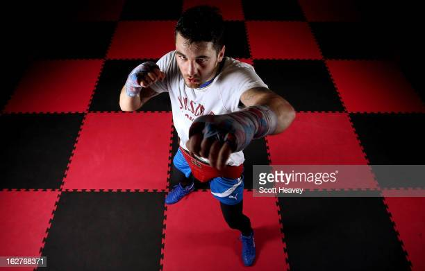 Nathan Cleverly during a media work out at Fitness Planet on February 26, 2013 in Aberbargoed, Wales.
